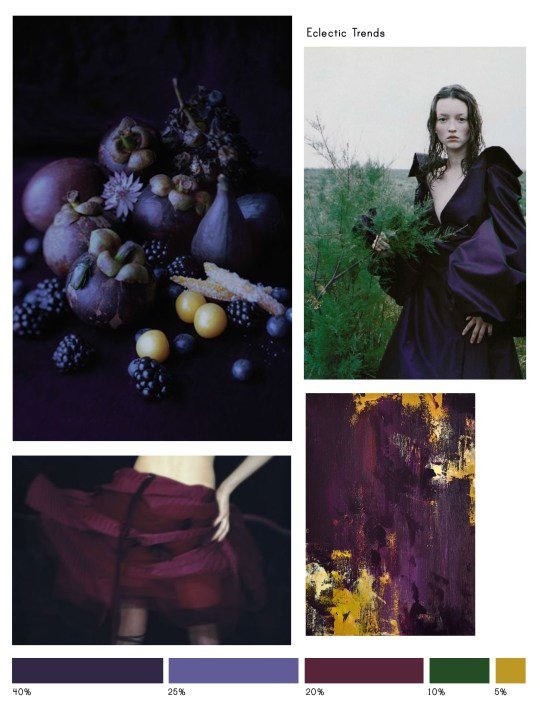 Color Inspiration No.13-Color Inspiration No.13: Shadow, Your Majesty, Eggplant, Pine Green & Corn via Eclectic Trends