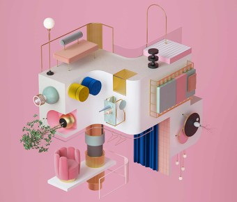 Everyday objects translated into rubik. by Moli Studio via Eclectic Trends