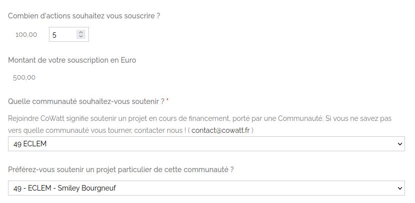 Exxemple souscription CoWatt