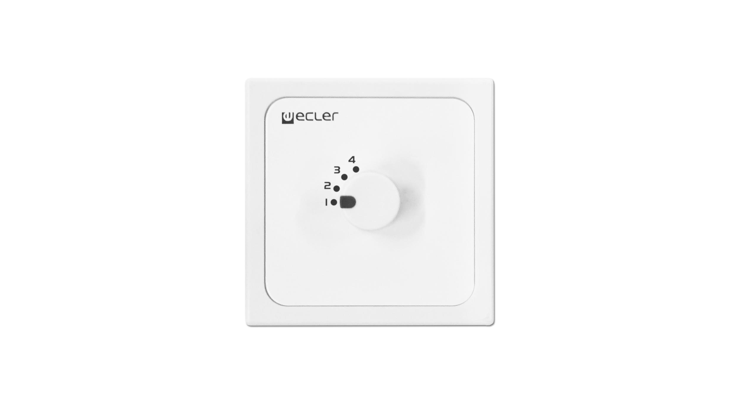 Ecler Wpmh Sl4 Remote Wall Panel Controls 70 100v V Line Selector