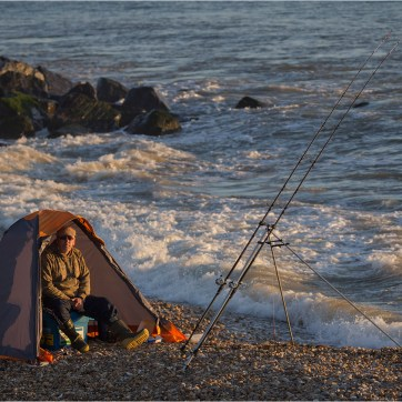 Sea Fishing, Sea fisherman, coastal photography, pebble beach, shingle beach