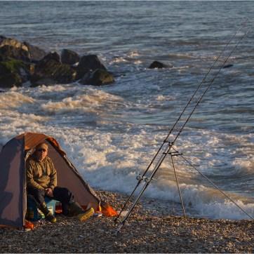 Sea Fishing, Sea fisherman, coastal photography, pebble beach, shingle beach