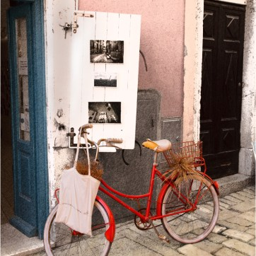 The red bike, Rovinj, Croatia, art gallery, travel photography