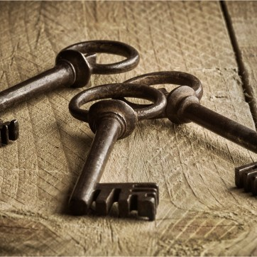 Three Antique Keys, Rustic keys, antique keys on wood, product photography