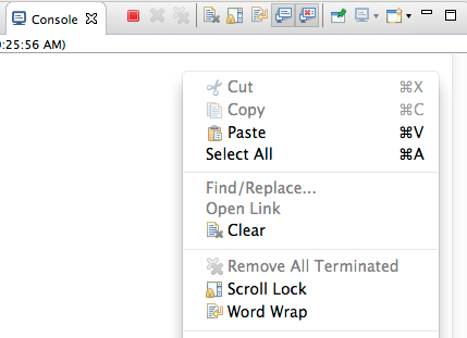 The new word wrap toolbar and popup menu command