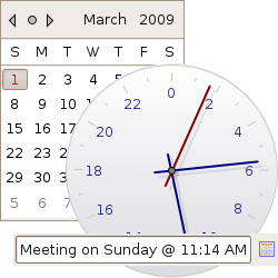 The CDateTime is a graphical and textual Date selection widget.