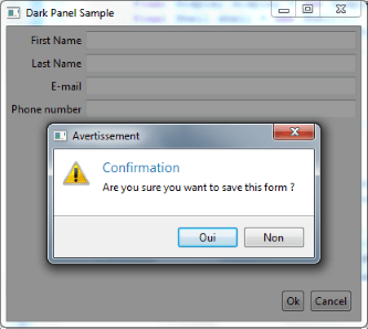 This widget proposes an effect for dialog boxes.