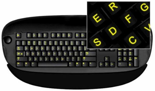 Teclado iluminado Glow In The Dark Stickers Keyboard
