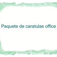 Paquete de caratulas office