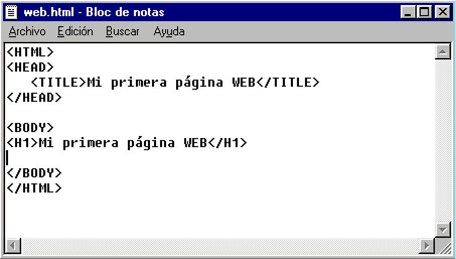 Crear web en HTML con Notepad++