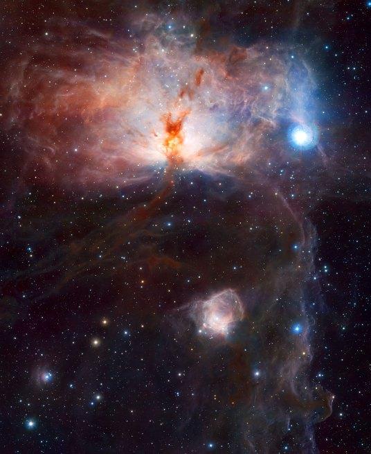 12 The hidden fires of the Flame Nebula (120 x 98,1 cm) VERKOCHT