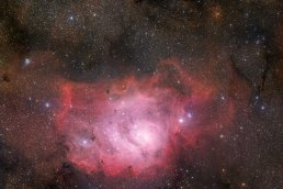 14 The Lagoon Nebula of Sagittarius (80,4 x 120 cm) VERKOCHT