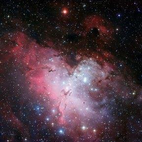 18 The Eagle Nebula and the Pillars of Creation (120 x 120 cm) VERKOCHT
