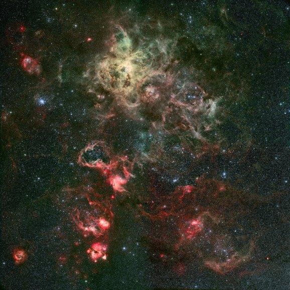 26 Portrait of a dramatic stellar nursery(119,8 x 120 cm) VERKOCHT