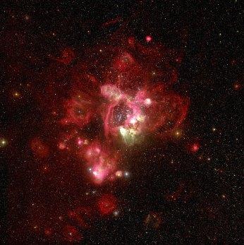29 N44 in the Large Magellanic Cloud (120 x 119,6 cm) VERKOCHT