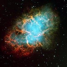 The Crab Nebula in Taurus (119,3 x 120 cm) VERKOCHT