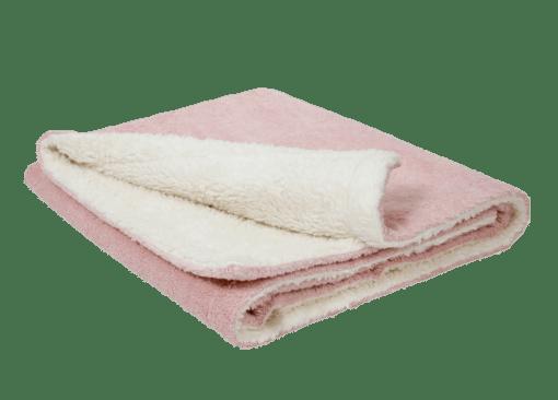 Efie Bio Plüschdecke Kuscheldecke rosa