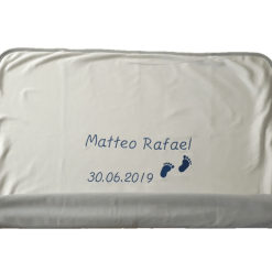 Leichte Decke mit Namen