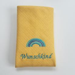 Stoffwindel mit Name - Baumwolle - Grünspecht