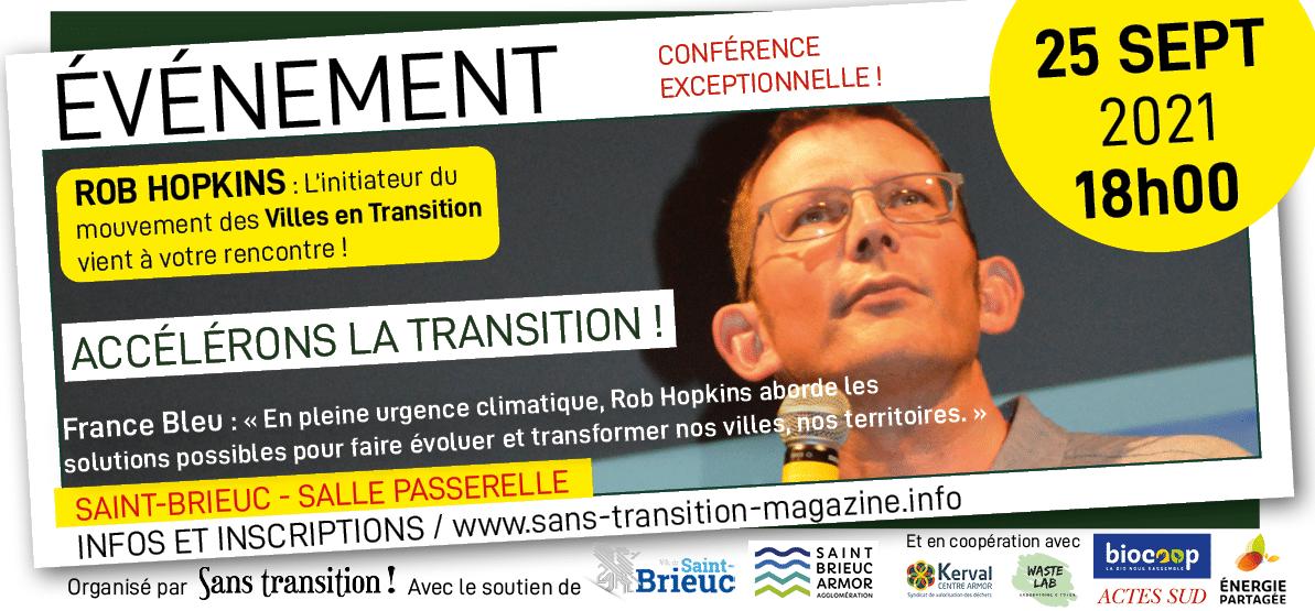 Saint-Brieuc (22), Rob Hopkins en conférence : «Accélérons la transition»
