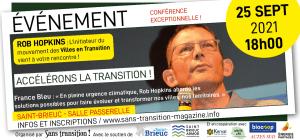 """Saint-Brieuc (22), Rob Hopkins en conférence : """"Accélérons la transition"""" @ La Passerelle"""