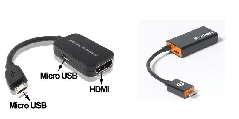 Adaptateurs mhl et slimport micro-usb vers hdmi