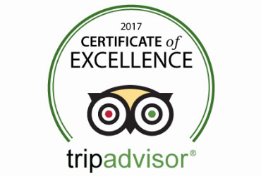 TRIP ADVISOR CERTIFICATE OF EXCELLENCE 2017!