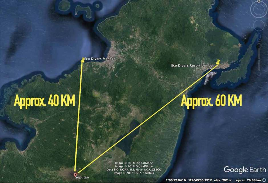Distance From Soputan