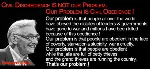 Zinn Disobedience