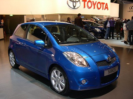 Image result for blue toyota yaris