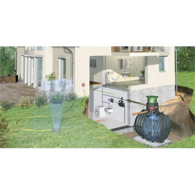 Graf Carat Regenwassertank und Zubehör Komplettpaket Haus-ECO-Plus