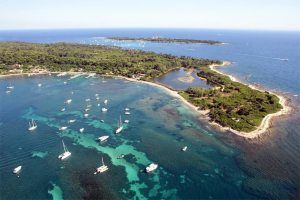 Charte de qualité marine en baie de Cannes - Le plaisancier responsable ne mouille son navire que lorsqu'il est assuré que l'impact de l'ancre sur les fonds marins ne produira aucun effet négatif sur la flore marine.