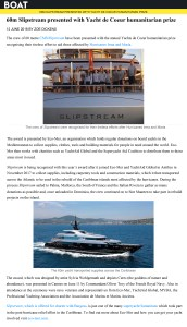 60m Slipstream presented with Yacht de Coeur humanitarian prize Boat International