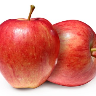 two organic gala apples