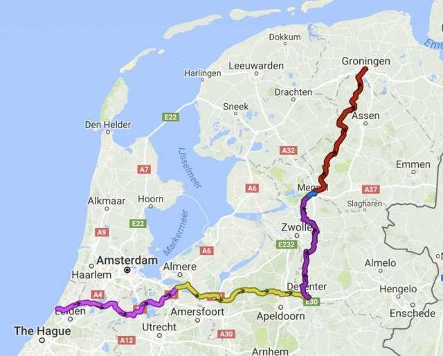 Den-Haag-Groningen-natuurroute