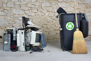 cleaning of old computer equipment for recycling