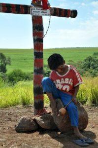 Túmulo do cacique Marco Veron: Violência contra indígenas é a pior nos últimos 25 anos. Foto: Ascom MPF/MS
