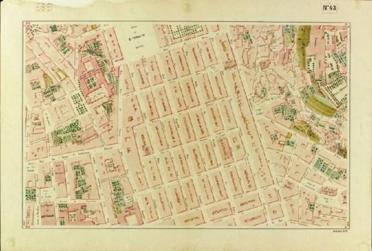 Carta topográfica de Lisboa, Planta nº 43, Filipe Folque, 1858