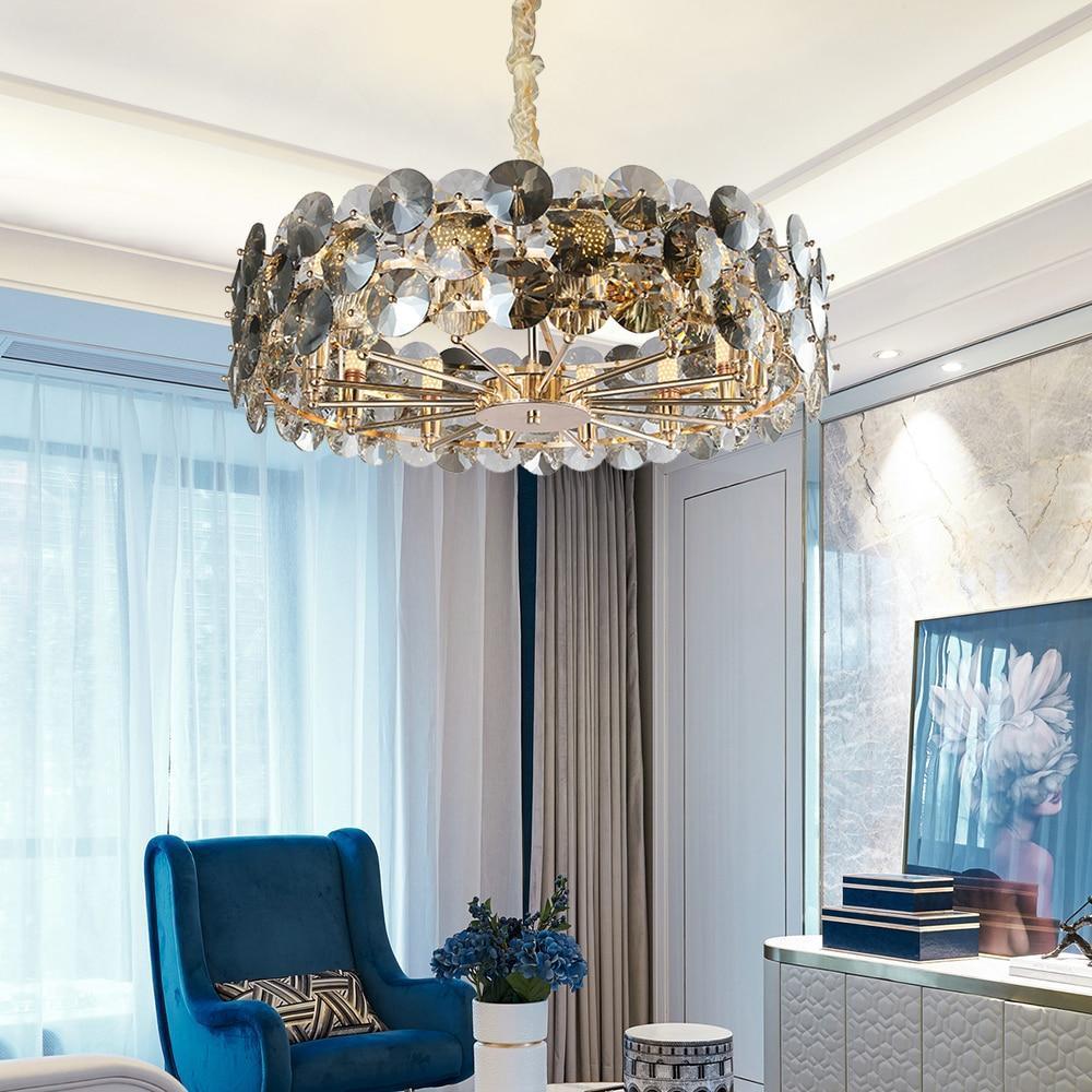 Smoke grey luxury chandelier