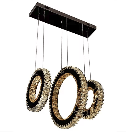 Hanging triple ring spiked style