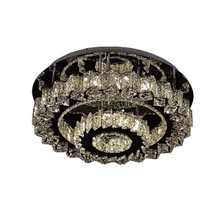 Flush 2 Tier Spiked Round Crystal
