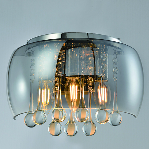 Indoor Lighting Wall Lights CP21   DARK/SMOKE GLASS WALL LIGHT