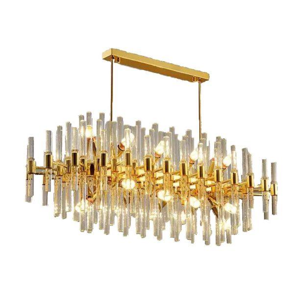Hanging crystal chandelier