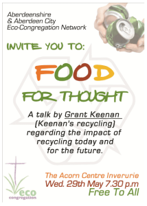 recycling event in Inverurie