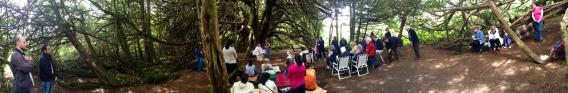 mass under the tree pano