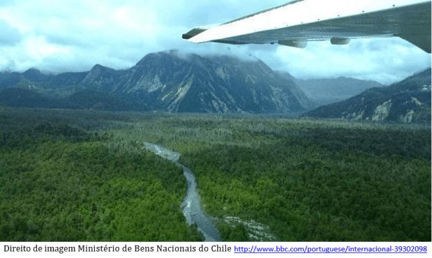 imagem aérea - Chile