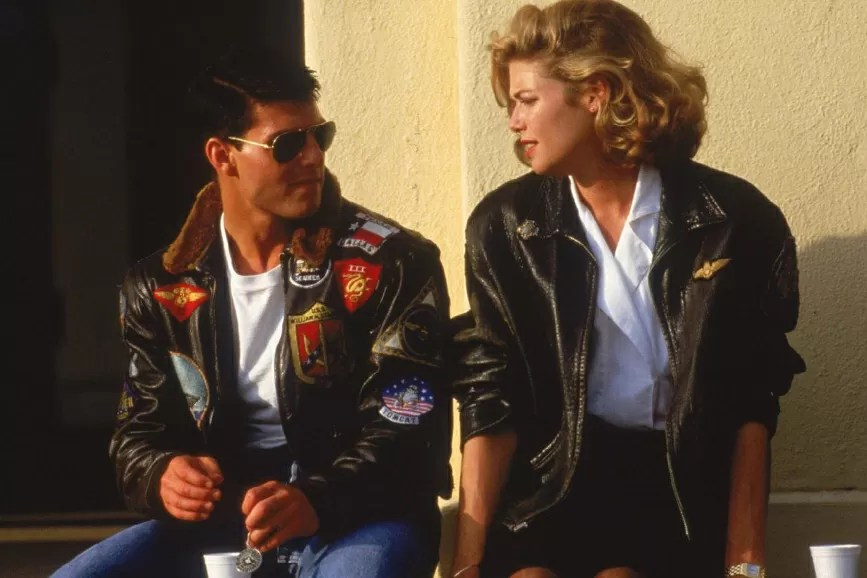Kelly McGillis in Top Gun con Tom Cruise