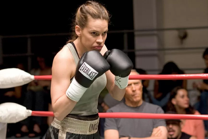 Hilary Swank Million Dollar Baby scena film