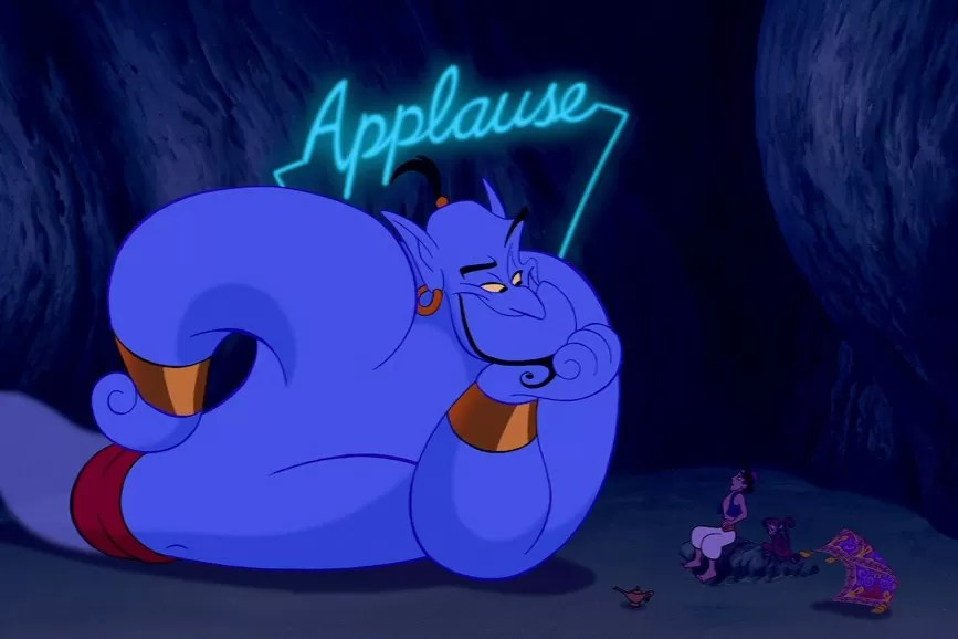 Will smith diventa blu è lui il nuovo genio di aladdin supereva
