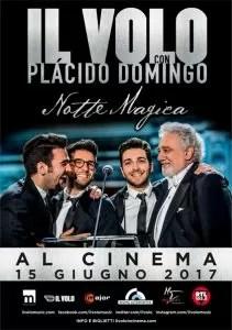 Il Volo con Plácido Domingo - Notte magica al cinema Locandina